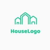 Molde do vetor do movimento da casa do projeto do logotipo Fotos de Stock