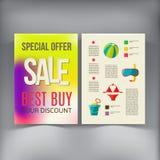 Molde do vetor do projeto do inseto do folheto da venda Foto de Stock