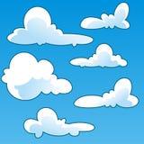 Molde do vetor dos desenhos animados da nuvem do divertimento Foto de Stock Royalty Free