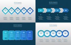 Molde do vetor para o infographics Foto de Stock
