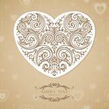 Molde do vintage com coração decorativo Imagens de Stock