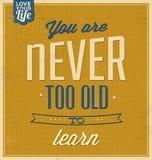 Molde do vintage - projeto retro - fundo tipográfico das citações Imagem de Stock