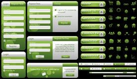 Molde do Web Fotografia de Stock