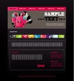 Molde do Web site Foto de Stock