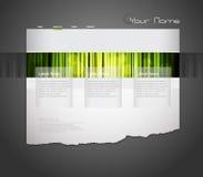 Molde do Web site com cortina alaranjada. Foto de Stock Royalty Free