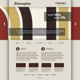 Molde do Web site com projeto abstrato do encabeçamento - barras e curvas coloridas Fotografia de Stock