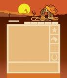 Molde do Web site do cowboy ilustração royalty free