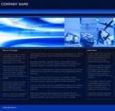 Molde do Web site do negócio de frete Foto de Stock Royalty Free