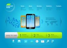 Molde do Web site: Touchphones Imagem de Stock