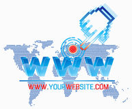 Molde do World Wide Web Fotografia de Stock