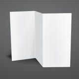 Molde dobrável em três partes do folheto do vetor branco vazio Foto de Stock