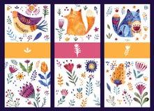 Molde dos cartões ilustração royalty free