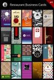 Molde dos cartões da variedade para o restaurante Imagem de Stock Royalty Free