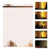 Molde dos cartões de Grunge Imagens de Stock