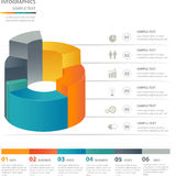 Molde dos elementos do projeto de Infographics Foto de Stock Royalty Free