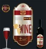 Molde dourado luxuoso da etiqueta do vinho Foto de Stock Royalty Free