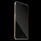 Molde dourado realístico de Smartphone ou do telefone celular rendição 3d Imagens de Stock