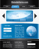 Molde editable azul e preto do Web site ilustração royalty free