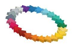 Molde Editable da roda de cor Foto de Stock Royalty Free