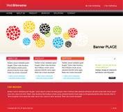 Molde Editable do Web site Ilustração Stock