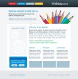 Molde Editable do Web site com pensils Ilustração Royalty Free