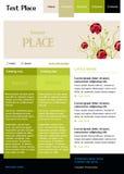 Molde Editable do Web site do vetor Imagem de Stock
