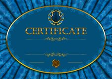 Molde elegante do certificado, diploma Fotografia de Stock Royalty Free