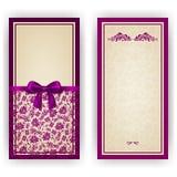 Molde elegante do vetor para o convite luxuoso, Foto de Stock Royalty Free