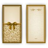 Molde elegante do vetor para o convite luxuoso, Imagens de Stock