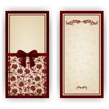 Molde elegante do vetor para o convite luxuoso, Imagem de Stock Royalty Free