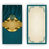 Molde elegante para o convite do luxo do vip Foto de Stock Royalty Free