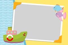 Molde em branco para o cartão de cumprimentos Fotografia de Stock Royalty Free