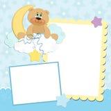 Molde em branco para o cartão de cumprimentos ilustração stock