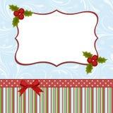 Molde em branco para o cartão de cumprimentos do Natal ilustração royalty free