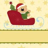 Molde em branco para o cartão de cumprimentos do Natal Fotografia de Stock