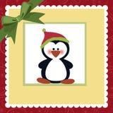 Molde em branco para o cartão de cumprimentos do Natal Fotos de Stock