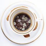 Molde en la taza sucia Foto de archivo libre de regalías
