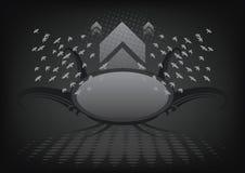 Molde escuro abstrato do fundo Imagens de Stock Royalty Free
