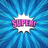 Molde explosivo azul brilhante cômico ilustração stock