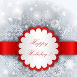 Molde feliz da etiqueta do feriado Fotografia de Stock Royalty Free