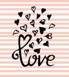 Molde feliz da garatuja do dia de Valentim do vetor para seu cartão Imagens de Stock Royalty Free