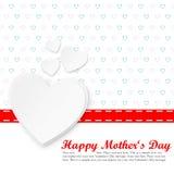 Molde feliz do cartão do dia de mãe Foto de Stock Royalty Free
