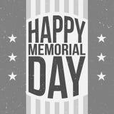 Molde feliz do cartaz de Memorial Day com texto ilustração do vetor