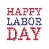 Molde feliz do cartaz do Dia do Trabalhador Imagens de Stock
