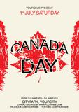 Molde feliz do inseto do dia de Canadá A bandeira de Canadá com os fogos-de-artifício para comemora o dia nacional de Canadá Imagem de Stock Royalty Free