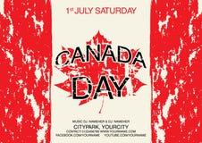 Molde feliz do inseto do dia de Canadá A bandeira de Canadá com os fogos-de-artifício para comemora o dia nacional de Canadá Foto de Stock Royalty Free