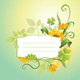 Molde floral ilustração stock