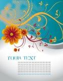 Molde floral abstrato com lugar para seu texto ilustração do vetor
