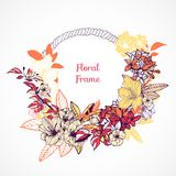 Molde floral do quadro Imagem de Stock