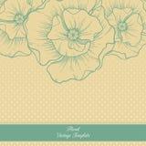 Molde floral do vintage Papoilas Imagens de Stock